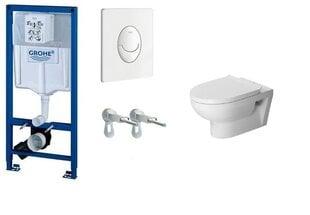WC koplektas Grohe Rapid SL 3in1 su mygtuku Skate Air+DuraStyle Basic kaina ir informacija | Klozetai | pigu.lt