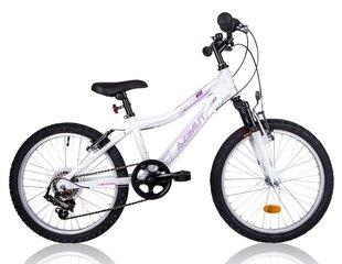 "Mergaičių dviratis Azimut Kid Alu Girl 20"" 2016, baltas"
