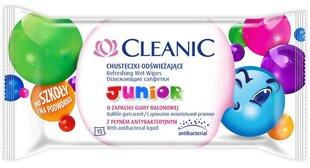 Universalios drėgnos servetelės vaikams Cleanic Junior, 15 vnt
