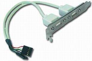 Gembird Case Bracket 2XUSB (CC-USB-RECEPTACLE)