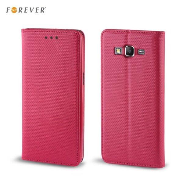 Apsauginis dėklas Forever Smart Magnetic Fix Book skirtas LG K4 (K130), Rožinis