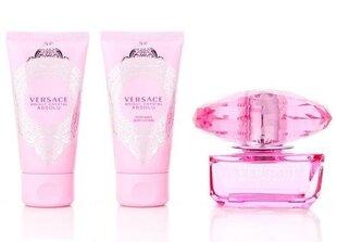 Rinkinys Versace Bright Crystal Absolu EDP 50 ml moterims + kūno losjonas 50 ml + dušo želė 50 ml kaina ir informacija | Kvepalai moterims | pigu.lt