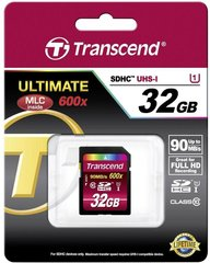 Atminties kortelė Transcend SDHC 32GB CL10 U1 ULTIMATE