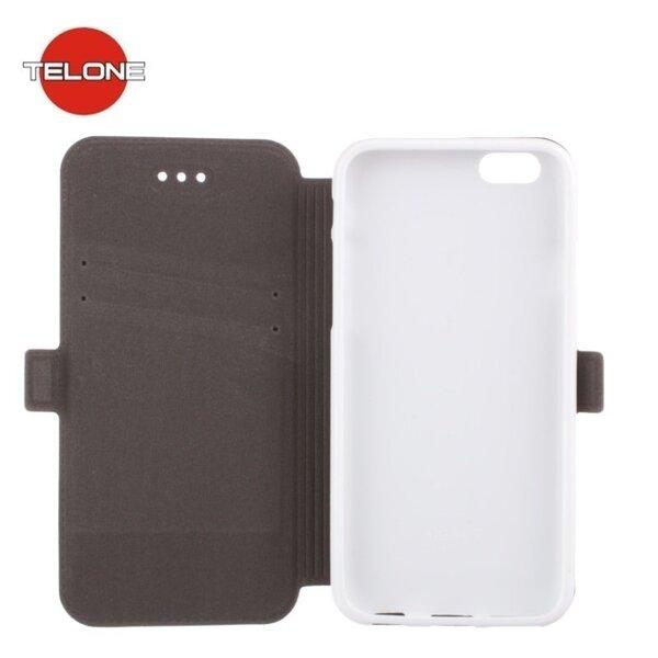 Atverčiamas dėklas Telone Super Slim Shine Book skirtas LG Stylus 2 (K520D), Baltas