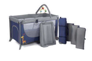 Maniežas Kinderkraft Joy Plus, Navy