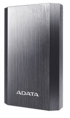 ADATA A10050 POWER BANK 10050mAh, Pilkas