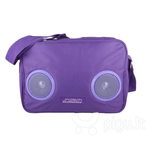 Fydelity Le BoomBox Doppler Small HandBag (27x12x8cm) with Speakers Blue