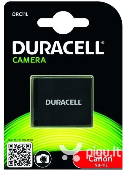 Duracell baterija, analogas Canon NB-11L, 600mAh