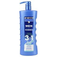 Dušo želė, šampūnas ir kondicionierius viename vyrams Daily Defense 946 ml kaina ir informacija | Dušo želė, muilai | pigu.lt