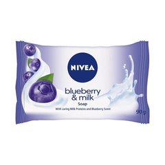 Muilas Nivea Blueberry & Milk 90 g цена и информация | Мыло | pigu.lt