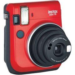 Fuji Instax Mini 70, Raudona + 10 fotolapelių kaina ir informacija | Skaitmeniniai fotoaparatai | pigu.lt