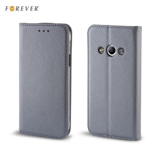 Apsauginis dėklas Forever Smart Magnetic Fix Book skirtas Sony Xperia M4 Aqua, Pilkas