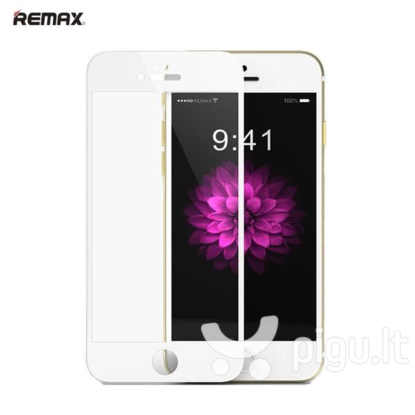 Remax Royal series 0.2mm Full Face Tempered Glass with Silicone Frame iPhone 6 6S 4.7inch White