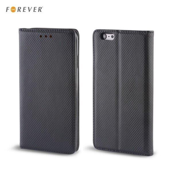 Apsauginis dėklas Forever Smart Magnetic Fix Book skirtas Samsung Galaxy S6 Edge (G925), Juodas
