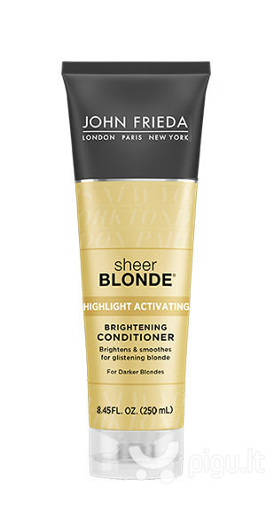 Kondicionierius šviesiaplaukėms John Frieda Sheer Blonde Highlight Activating For Darker Blondes 250 ml