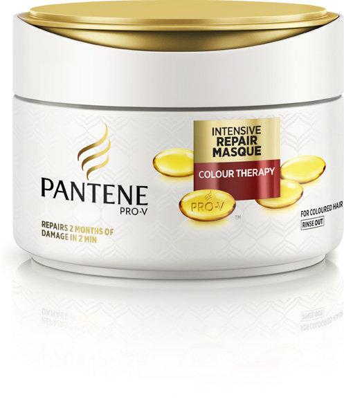 Atkurianti kaukė dažytiems plaukams Pantene 2min Color Damage Rescue 200 ml