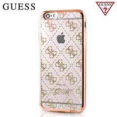 GUESS GUHCP6TR4GG 4G Design Silicone Ultra Thin Back Case Apple iPhone 6 / 6S 4.7inch Gold