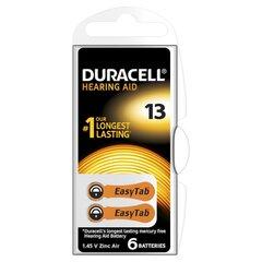Baterijos klausos aparatui Duracell 13, 6vnt