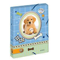 Aplankas 4 cm Herlitz Pretty Pets Dog, su guma, plastikinis, A4, 10530012