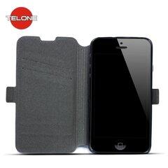 Atverčiamas dėklas Telone Super Slim Shine Book skirtas Huawei Honor 5C / Honor 7 Lite, Juoda kaina ir informacija | Telefono dėklai | pigu.lt