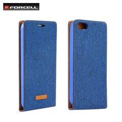Atverčiamas dėklas Forcell Canvas Flexi skirtas Samsung Galaxy J1 (J120F), Mėlyna kaina ir informacija | Telefono dėklai | pigu.lt