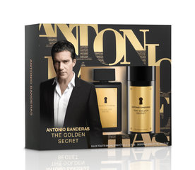 Rinkinys Antonio Banderas The Golden Secret: EDT vyrams 100 ml + dezodorantas 150 ml kaina ir informacija | Rinkinys Antonio Banderas The Golden Secret: EDT vyrams 100 ml + dezodorantas 150 ml | pigu.lt