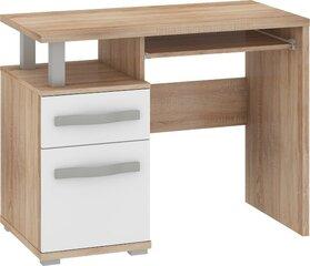 Rašomasis stalas Angel 1D1S, baltos/ąžuolo spalvos