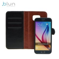 Blun Twin 2in1 Eco Leather Book Case and Magnetic Back Cover Huawei P9 Black