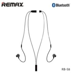 Remax RB-S8 NeckBand Active Sport Bluetooth 4.1 Wireless Stereo Headset with Remote Multipoint Black