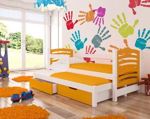 Vaikiška lova AVILA, oranžinė/balta kaina ir informacija | Vaiko kambario baldai | pigu.lt