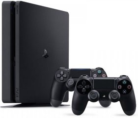 Sony Playstation 4 (PS4) Slim, 1TB + 2 valdymo pulteliai