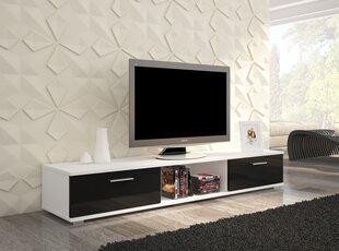 TV staliukas Sella, baltas/juodas kaina ir informacija | TV staliukai | pigu.lt