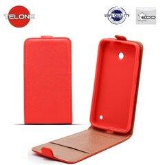 Telone Shine Pocket Slim Flip Case LG K7 X210 vertical book case Red kaina ir informacija | Telefono dėklai | pigu.lt