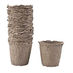 Durpiniai puodeliai, 12 vnt. kaina ir informacija | Vazonėliai daiginimui ir persodinimui | pigu.lt