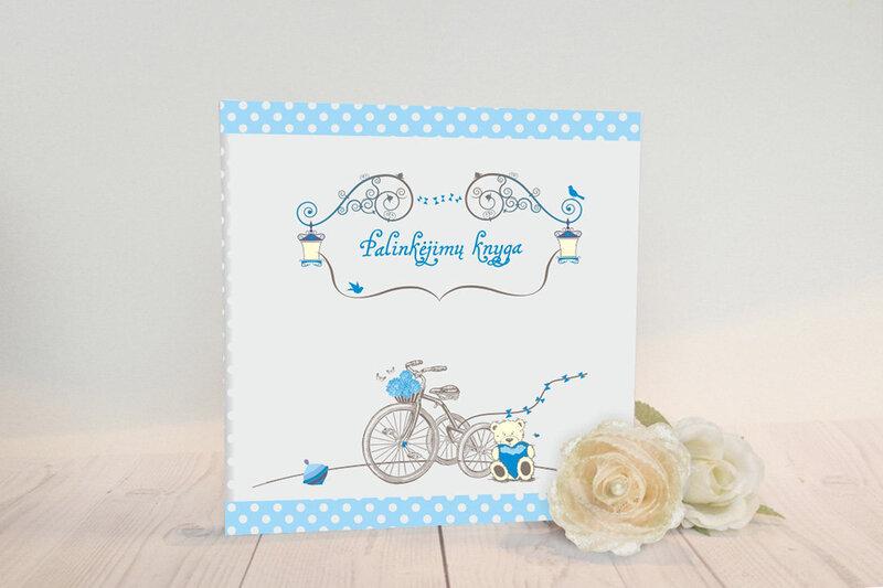 """Palinkėjimų knyga """"Mėlynas dviratukas"""""""