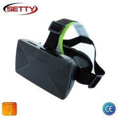 """Virtualūs akiniaiSetty 3D Universal, skirti 3.5-6"""" išmaniesiems telefonams, juodi"""