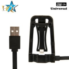 HQ Universal 2in1 Smart Micro USB Cable - Foldable Stand for any Smartphone or Tablet PC Black (OEM)
