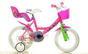 """Mergaičių dviratukas Dino Bikes Troliai (Trolls) 14"""", 144R-TRO"""