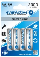 everActive Silver Line Ready to Use 2000mAh AA akumuliatorius, 4 vnt.