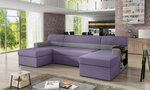 Universalus minkštas kampas Markos, violetinis/pilkas