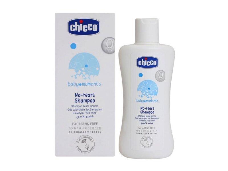 """Šampūnas vaikams """"Be ašarų"""" Chicco Baby Moments 200 ml"""