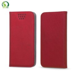 """GreenGo Universal 5.5-5.7"""" LCD (80x160mm max) Smart Magnetic Fix Book Case with Slider Red kaina ir informacija 