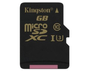 Atminties kortelė Kingston 64 GB microSDXC Class U3 UHS-I 90R/45W