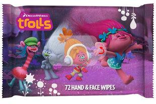 Drėgnos servetėlės vaikams DreamWorks Trolls 72 vnt