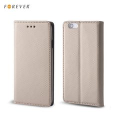 Forever Smart Magnetic Fix Book Case without clip Samsung A320F Galaxy A3 (2017) Gold kaina ir informacija | Telefono dėklai | pigu.lt
