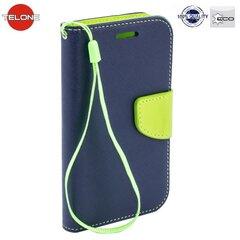 Telone Fancy Diary Bookstand Case Xiaomi Redmi 3S / 3S Pro Blue/Light Green kaina ir informacija | Telefono dėklai | pigu.lt