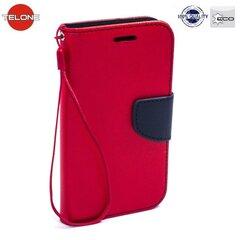 Telone Fancy Diary Bookstand Case Xiaomi Redmi Note 3 Red/Blue kaina ir informacija   Telefono dėklai   pigu.lt