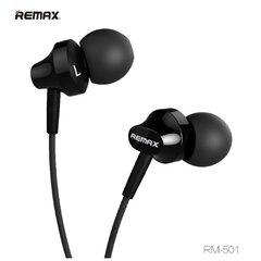 Remax RM-501 Base-D Comfort ausinės su mikrofonu, 1.2m, Juodos