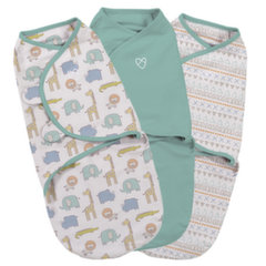 Vystyklas-kokonas Summer Infant Original Swaddle, 3 vnt., S dydis, Sketchy Safari