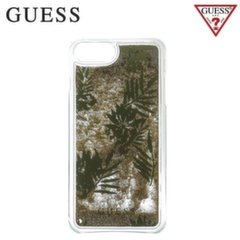 GUESS GUHCP7GLUPRG Liquid Glitter Hard plastic back cover case Apple iPhone 6 / 6S / 7 4.7inch Palm Green
